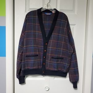 Vintage Pendleton Wool Plaid Cardigan